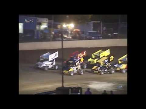 Full race from the GLOSS 410 sprints at Hartford Speedway Park in MI May 24, 2002. Tim Norman takes the feature win over a strong field of cars. - dirt track racing video image