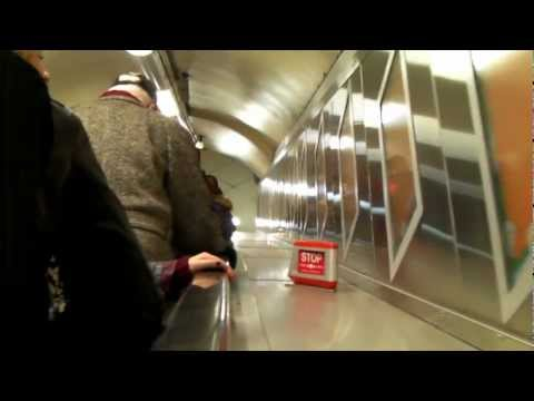 oxford circus tube station going up escalator