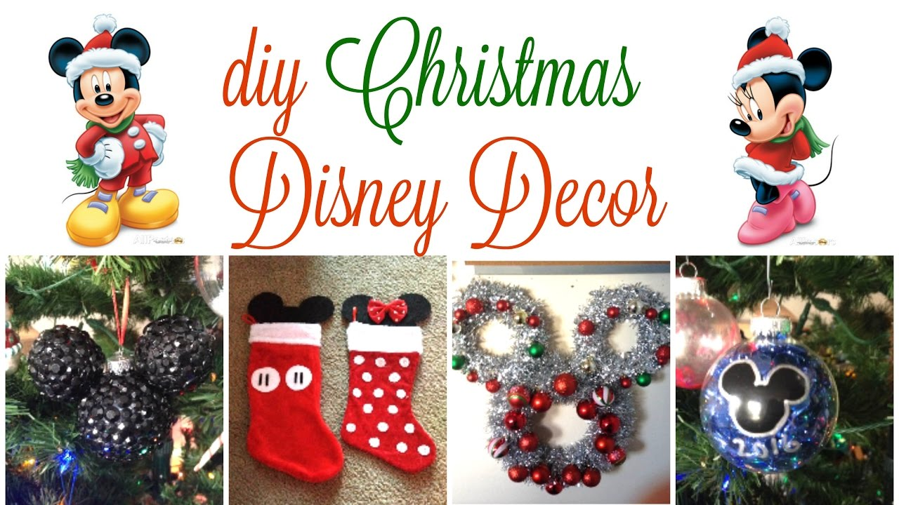 Disney Christmas Decorations.Diy Disney Christmas Decor 2016