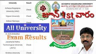 Ap all universities degree results |Anu degree results |degree semester results|All india results |