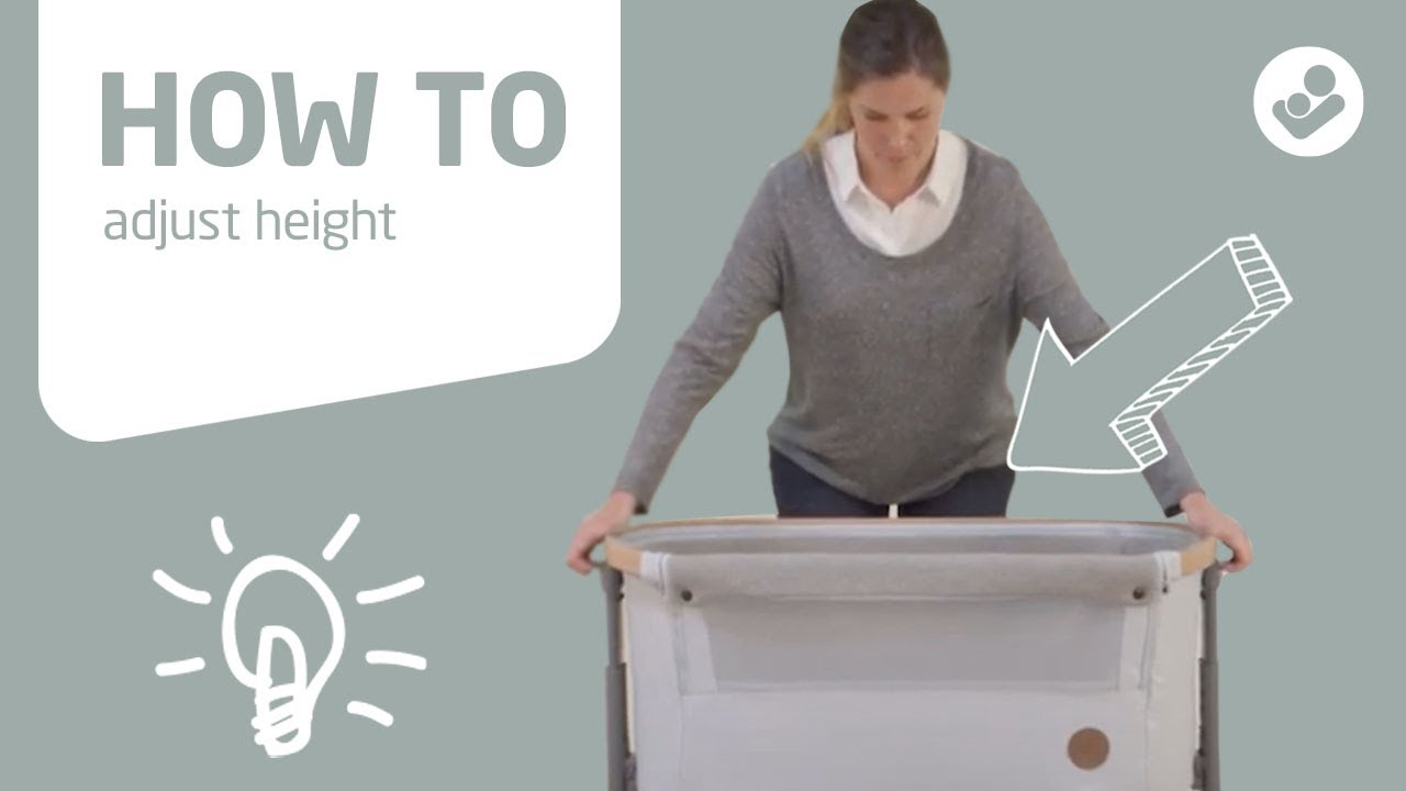 Maxi-Cosi | Iora 2-in-1 bedside sleeper | How to adjust height