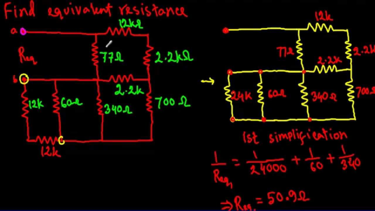 Equivalent Resistance Of Complex Series Parallel Circuit 3 Hard And Youtube