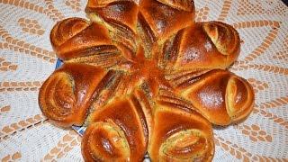 Булочка цветок.Сладкая сдобная булочка.Моя идея,Meine Idee,My idea.Flower Bread.