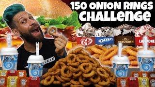 150 ONION RINGS BURGER KING CHALLENGE con rinforzo di 4 KING FUSION - MAN VS FOOD