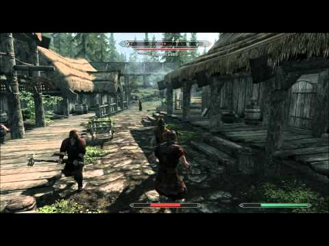 Skyrim: Punching a chicken, town goes crazy...