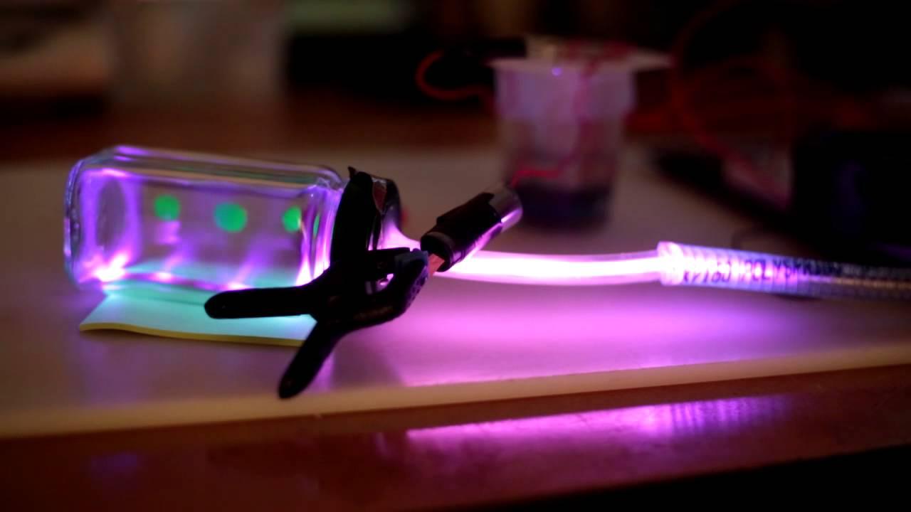 Diy Glow Discharge Lamp Youtube