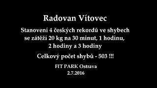 Radovan Vítovec - World record in 1 hour and czech records pull-ups / České rekordy ve shybech