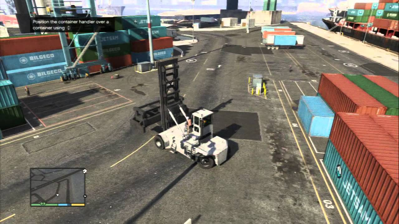 Grand Theft Auto V - Scouting The Port: Trevor & Floyd Hebert, Handler  Crate (Tutorial) Sequence PS3