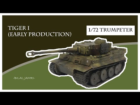 Tiger 1 Early Production 1/72 Trumpeter