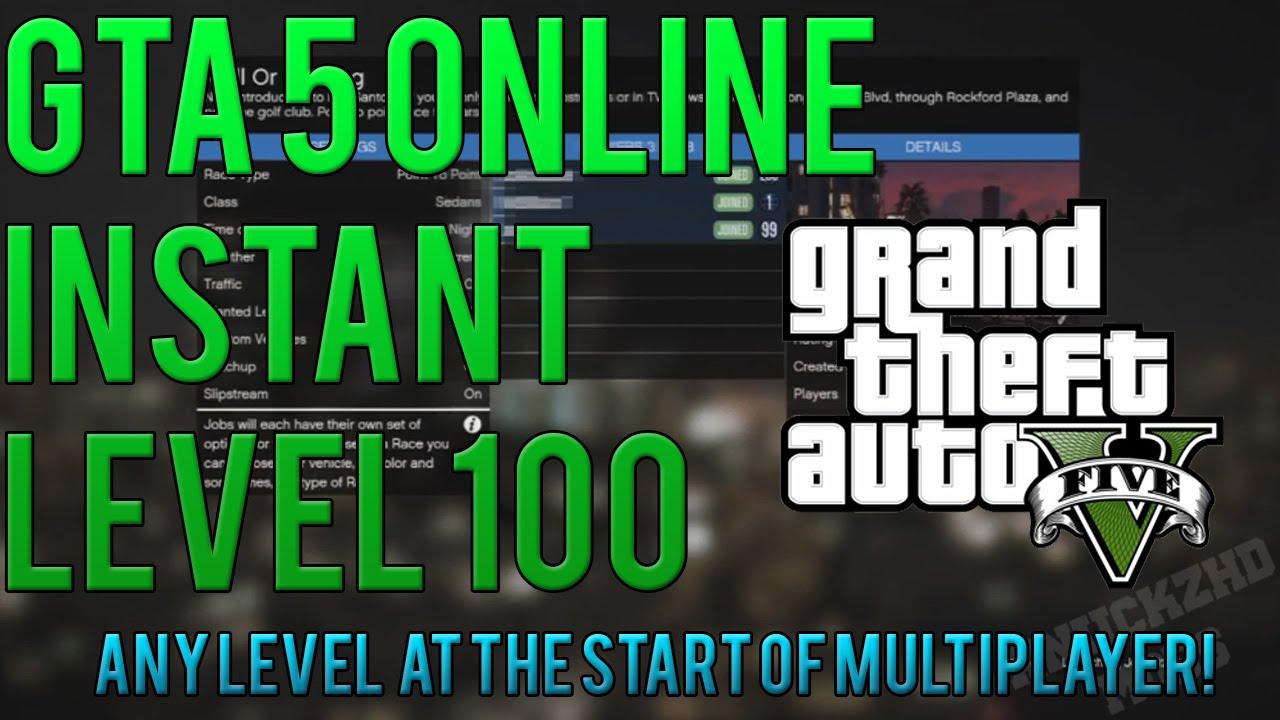 GTA 5 Online - INSTANT Level 100+ Hack GTA 5 Multiplayer! GTA 5 Mods/Hacks PS3