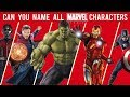 Can You Name All Marvel Characters?