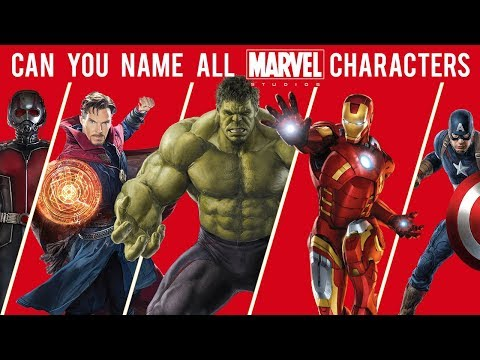 Can You Name All Marvel Characters? - YouTube