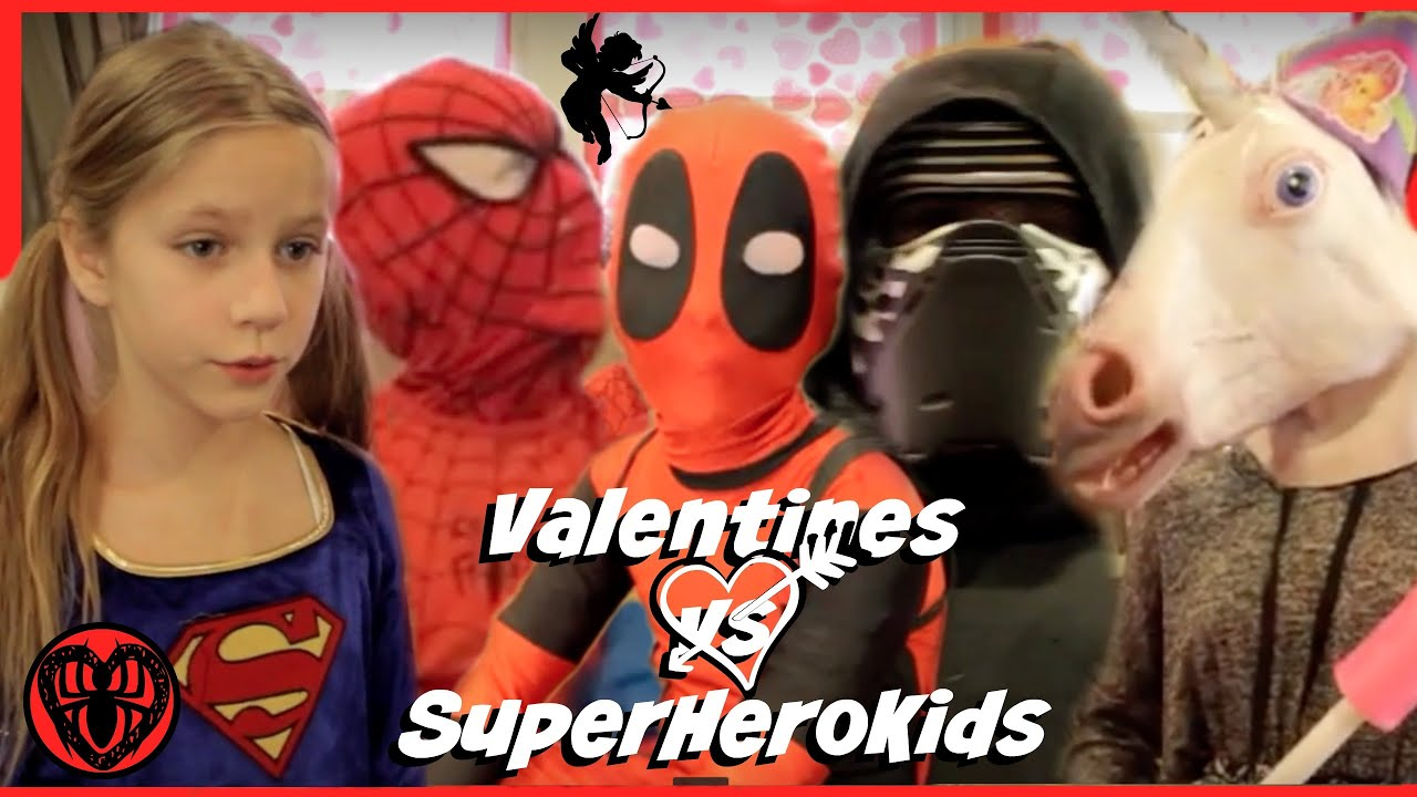Deadpool 30 Superhéroes: Kid Deadpool Valentines In Real Life Special With