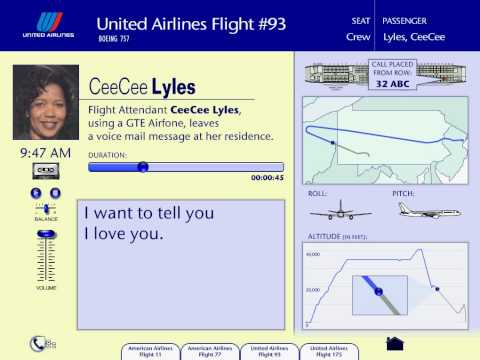 Court recording of CeeCee Lyles on Flight 93 HEAR THE WHISPERS IN THE BACKGROUND