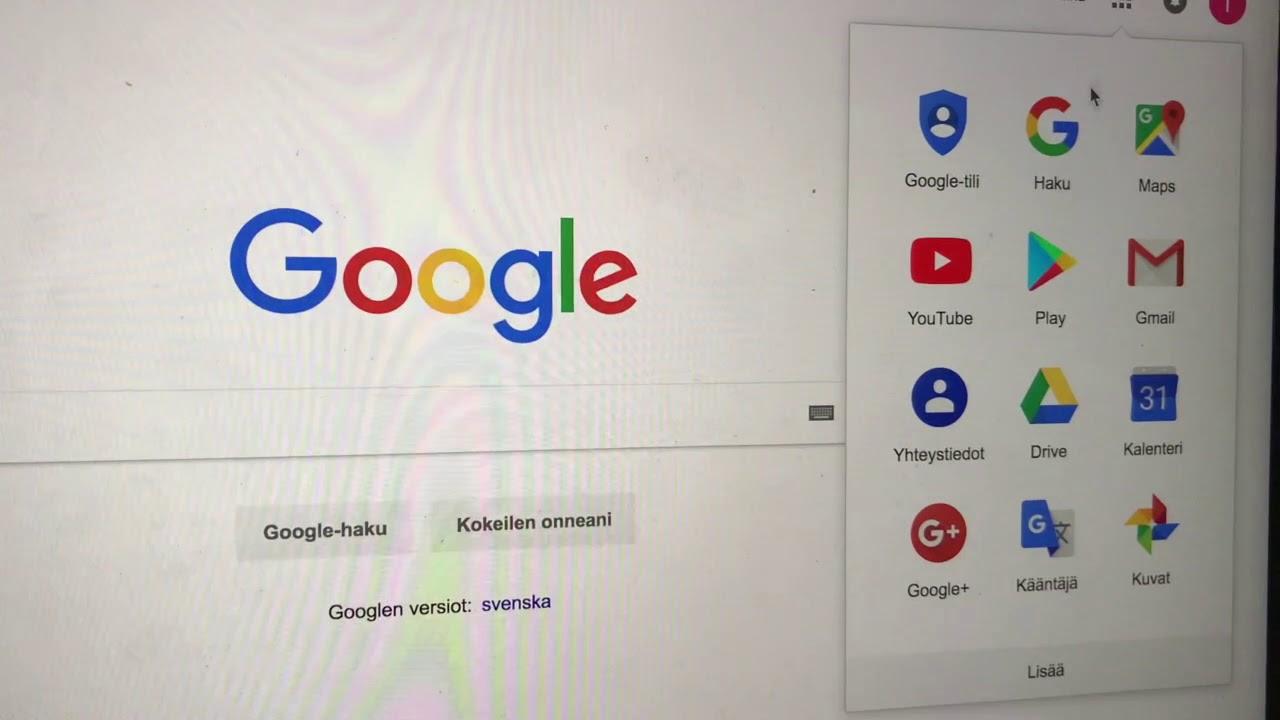 Googleen Kirjautuminen