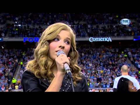 """Jackie Evancho """"The National Anthem"""" Thanksgiving Day 2013"""