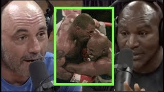 "Evander Holyfield on Fighting Mike Tyson ""I Wanted to Bite Him Back!!"" 