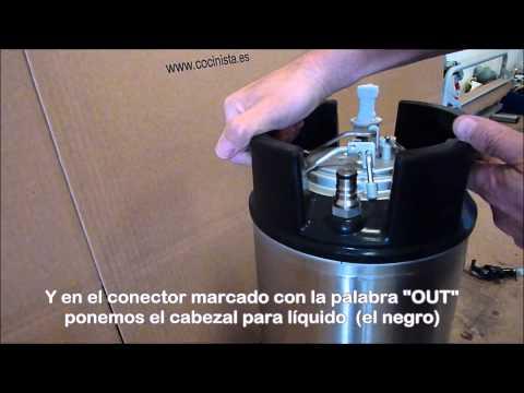 Cómo funciona un barril Cornelius o de soda