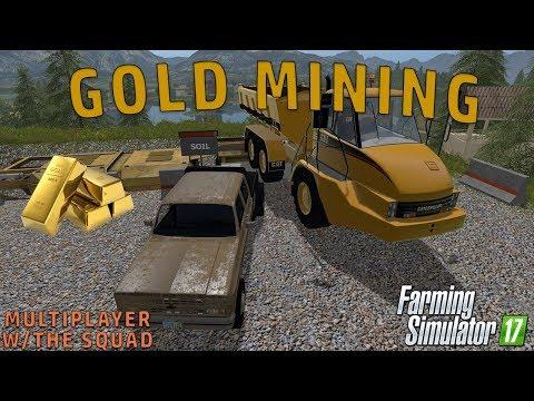 GOLD MINING | Mining Economy Map | Farming Simulator 2017