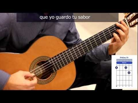 "Cómo tocar ""Sabor a mi"" en guitarra / How to play ""Sabor a mi"" on guitar"
