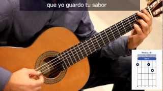 """Cómo tocar el bolero """"Sabor a mi"""" en guitarra / How to play the bolero """"Sabor a mi"""" on guitar"""