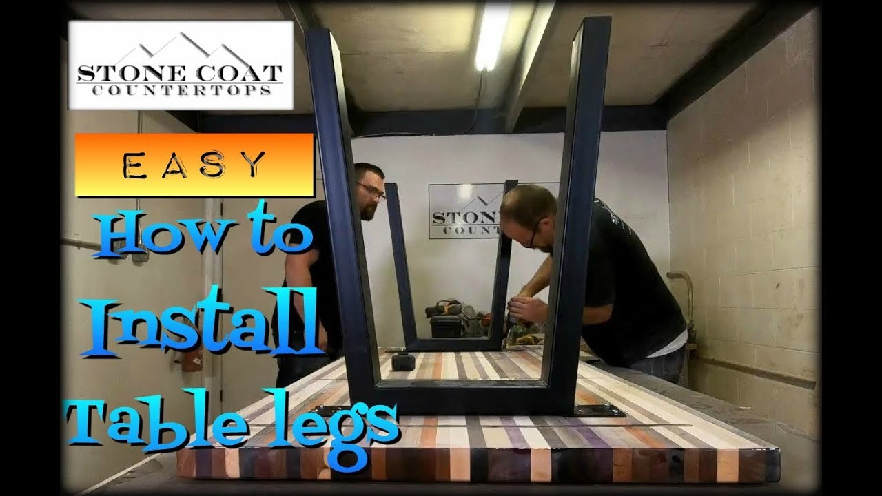 How To Install table Legs- Easy!