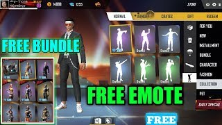 How to unlock all emote in free fire for free, free emote, free bundle,