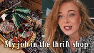 Come with me to work in the thrift shop + Thrift Haul
