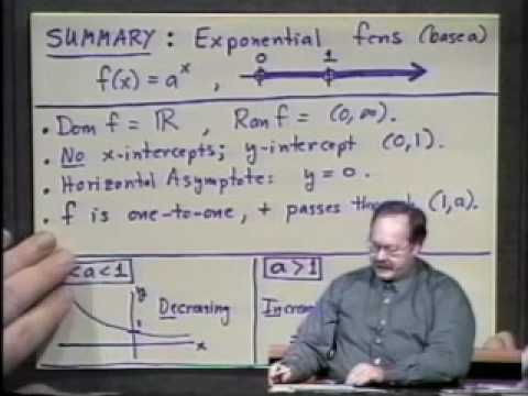 College Algebra - Lecture 28 - Exponential Functions