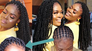30 Mins! Crochet Passion Twists + Versatile Braid Pattern | Beyond Beauty Hair