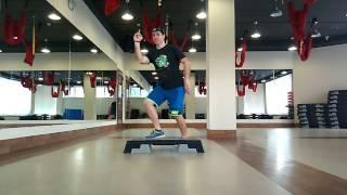 Степ аэробика с раскладкой Денис Стоянов. В домашних условиях (Step Dance)