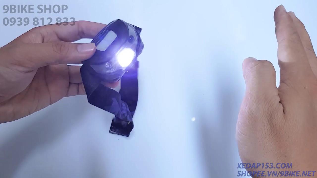 9BIKE SHOP - Đèn đeo trán cảm ứng | 130.000 đ