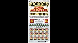 $10 - $3m MONEY MILLIONAIRE NEW! Lottery Bengal Scratch Off tickets  NEWER TICKET!!