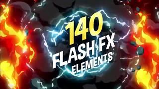 Скачать 140 Flash FX Elements After Effects Qualquer Versão