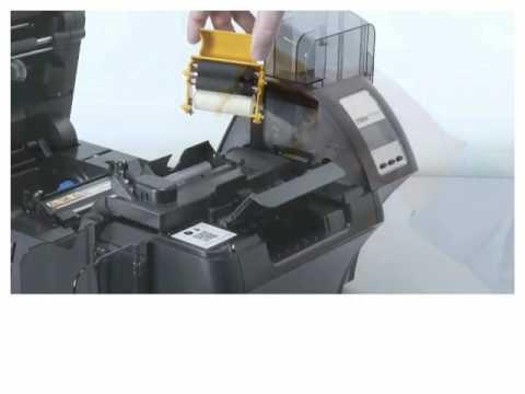 Zebra ZXP Series 9 - Installing The Cleaning Catridge