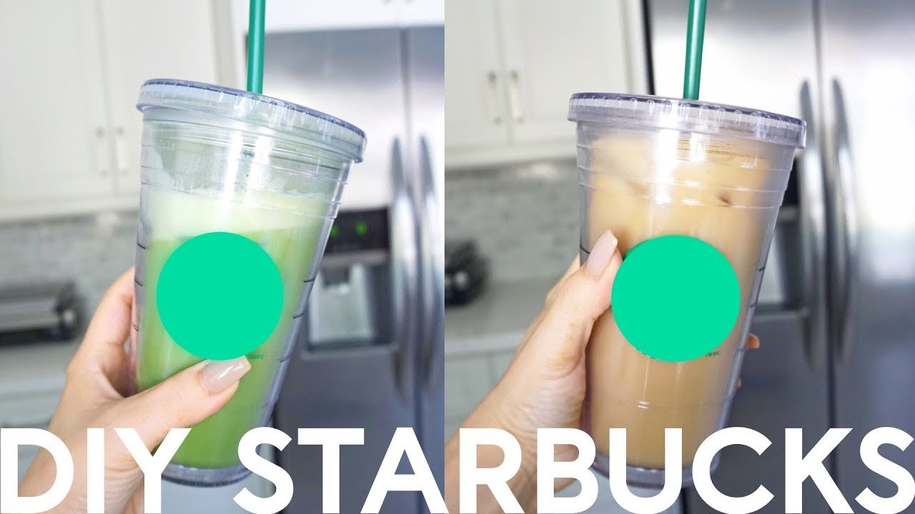How To Make a Starbucks Iced Green Tea Matcha Latte - YouTube