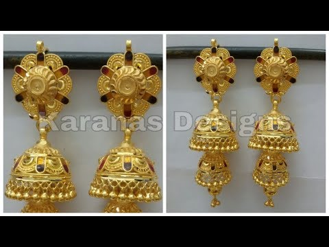 Latest Gold Jhumka Designs With Weight | Jhumkas Earring