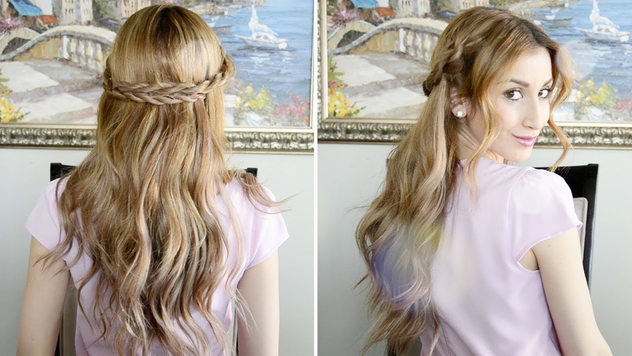 romantic rope braided hairstyle | valentine's day hair inspiration