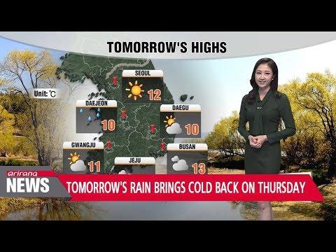 Tomorrow's rain brings cold back on Thursday _ 112117