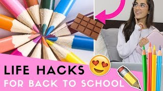 20 LIFE HACKS Everyone Should Know For Back To School!