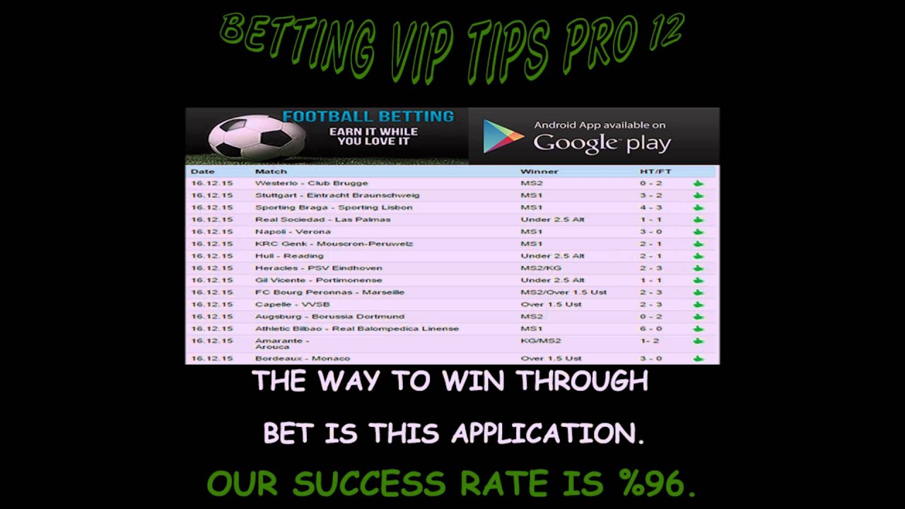 football betting tips high success rate