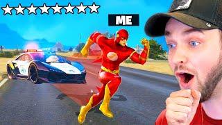 Playing GTA 5 as The FLASH! (Superhero MOD)