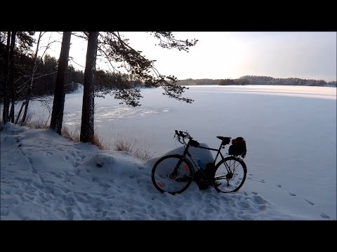 Winter cycling and exploring a small cave