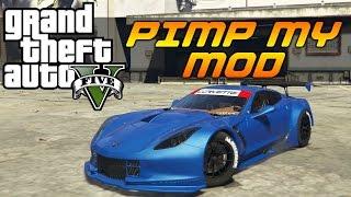 gta v pimp my mod 26   chevy corvette c7r   modded car customization