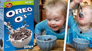 British 2 Year-Old Tries OREO CEREAL for the First Time!!