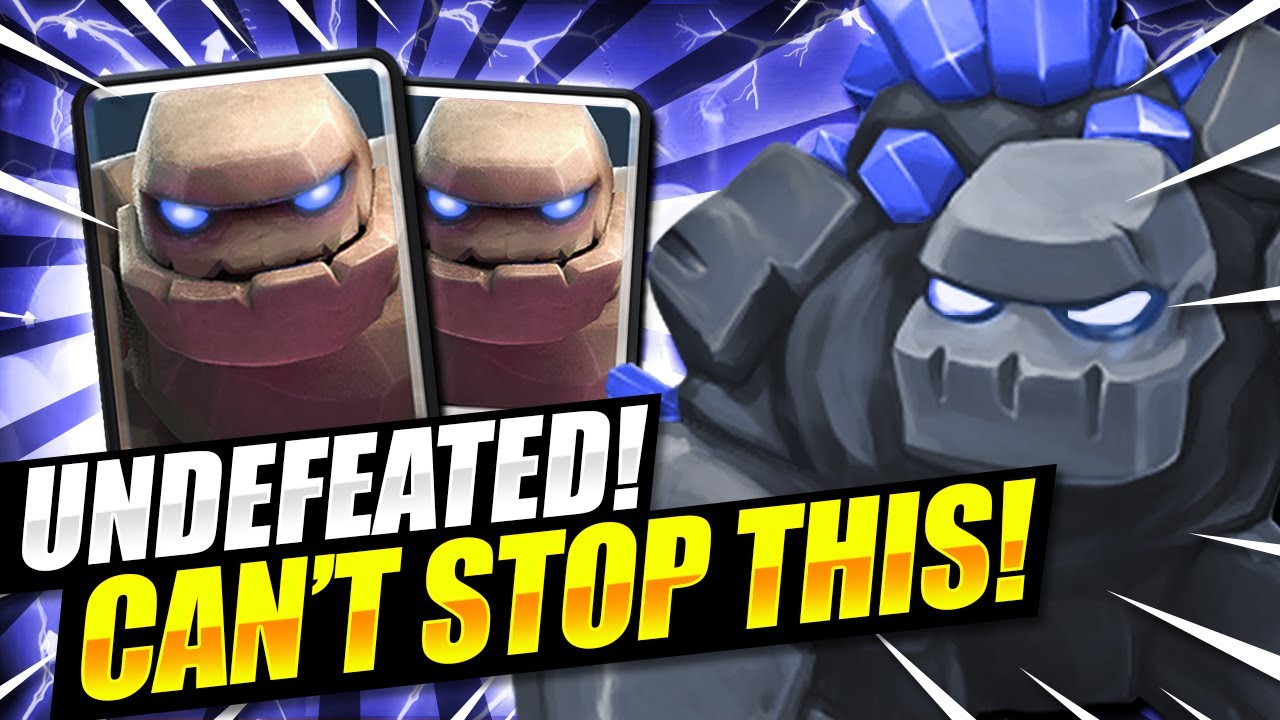 UNDEFEATED DECK!! CURRENT BEST GOLEM DECK IN CLASH ROYALE!! Golem Beatdown Deck