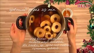 Szybki przepis na kompot z suszonych owoców Helio oraz struclę z masą makową