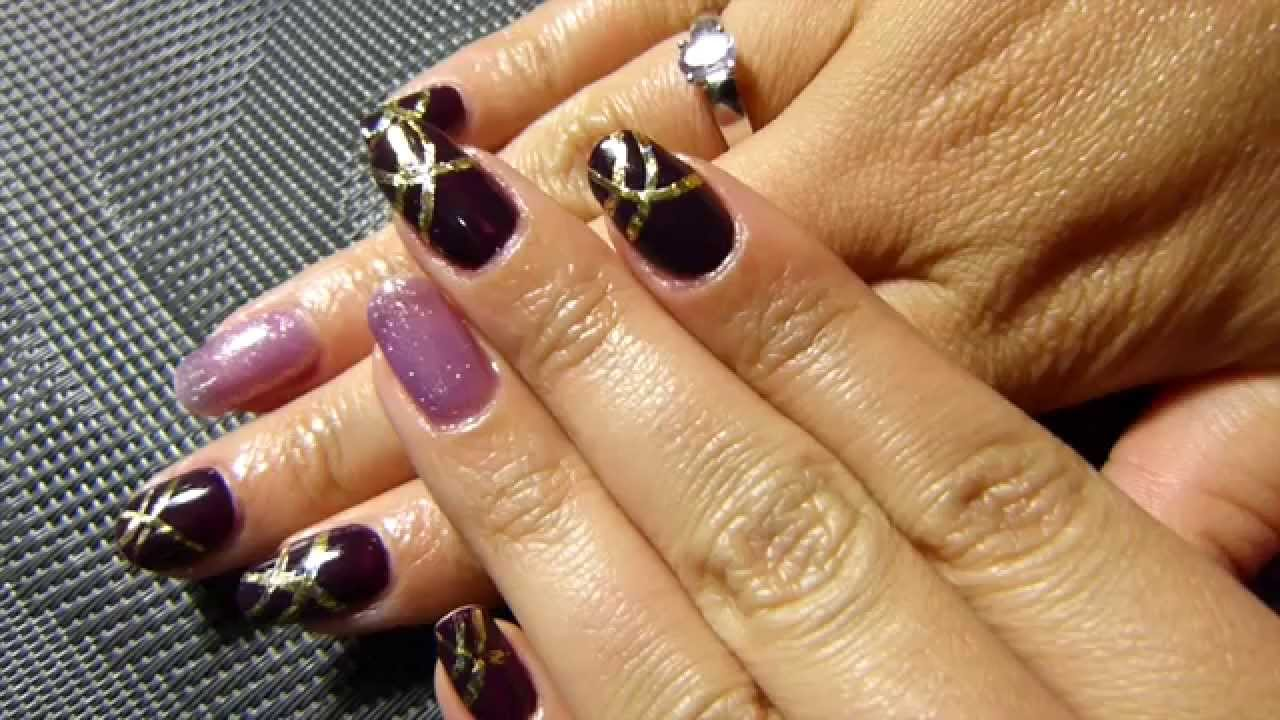 nail art pose de vernis semi permanent et foils youtube. Black Bedroom Furniture Sets. Home Design Ideas