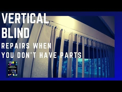 How To Repair Vertical Blinds Broken Stems Gears Not Turning