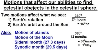 astronomy ch 2 understanding the night sky 6 of 23 motion of stars earth sun moon